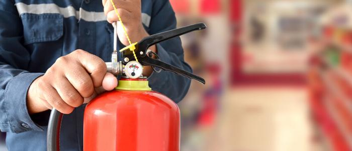 Fire extinguisher servicing guide