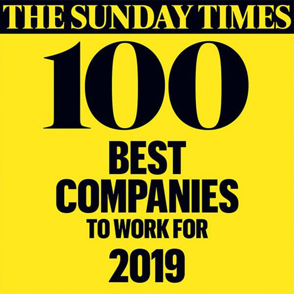 UK's Top 100 Best Companies to Work For by the Sunday Times